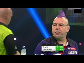 Peter Wright vs Michael van Gerwen (PDC Premier League Darts 2020 / Week 13)