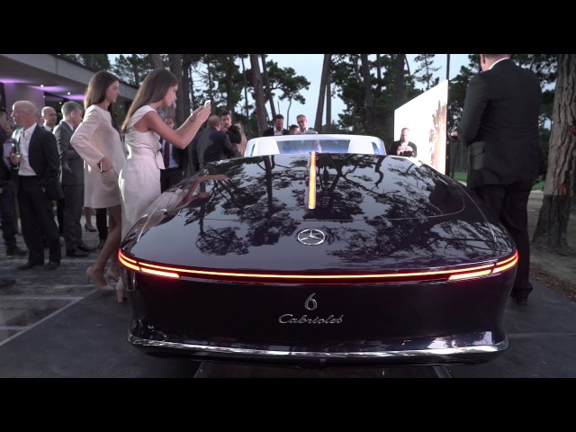 2017 Vision Mercedes Maybach 6 Cabriolet World Debut at Pebble Beach Concours d'Elegance