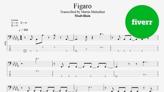Madvillain - Figaro (bass tab)