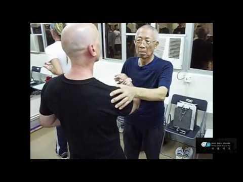 Chu Shong Tin teaching Mark Spence Chum Kiu Seizing Hand