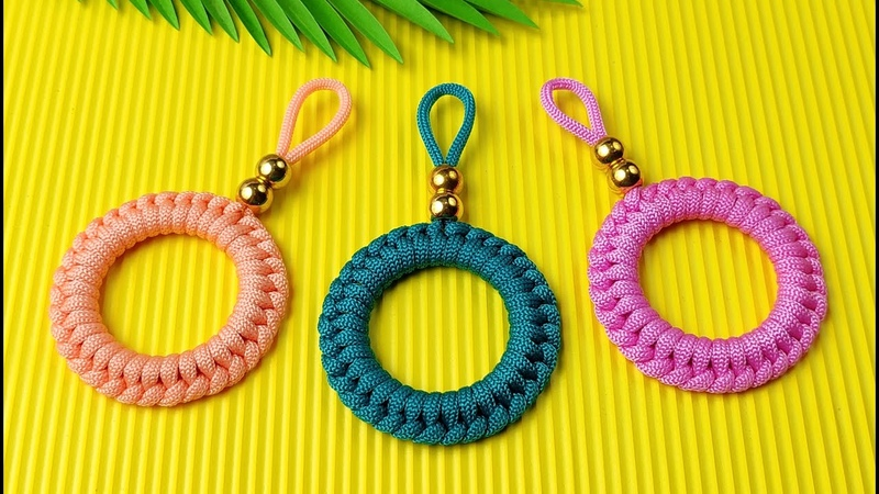 Super Easy Paracord Lanyard Keychain   How to make a Paracord Key Chain Handmade DIY Tutorial 5
