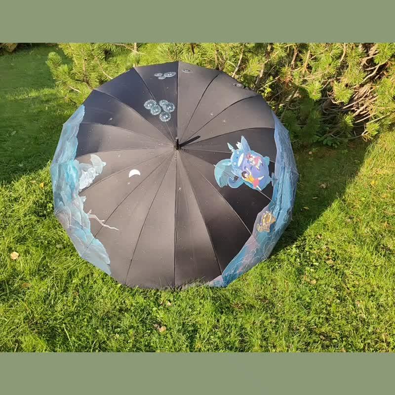 Зонт с росписью по м/ф Миядзаки