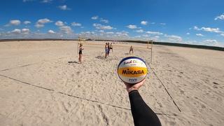 Волейбол от первого лица | BEACH VOLLEYBALL FIRST PERSON | DESERT GAME | BEST MOMENTS | 76 episode