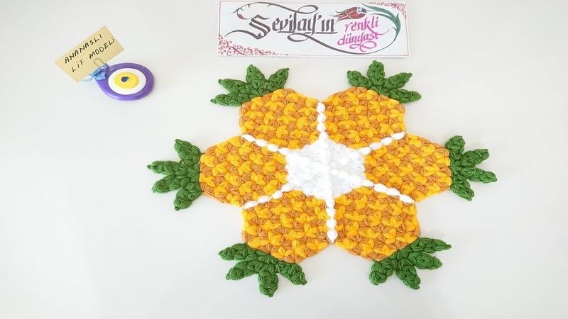 Ananaslı lif modeli (tasarımı bana ait) sevilayınrenklidünyasılifmodellericrochet