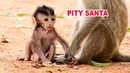 Very pity baby Santa looks very sad when Kidnapper Trying To Catch and Keep Him