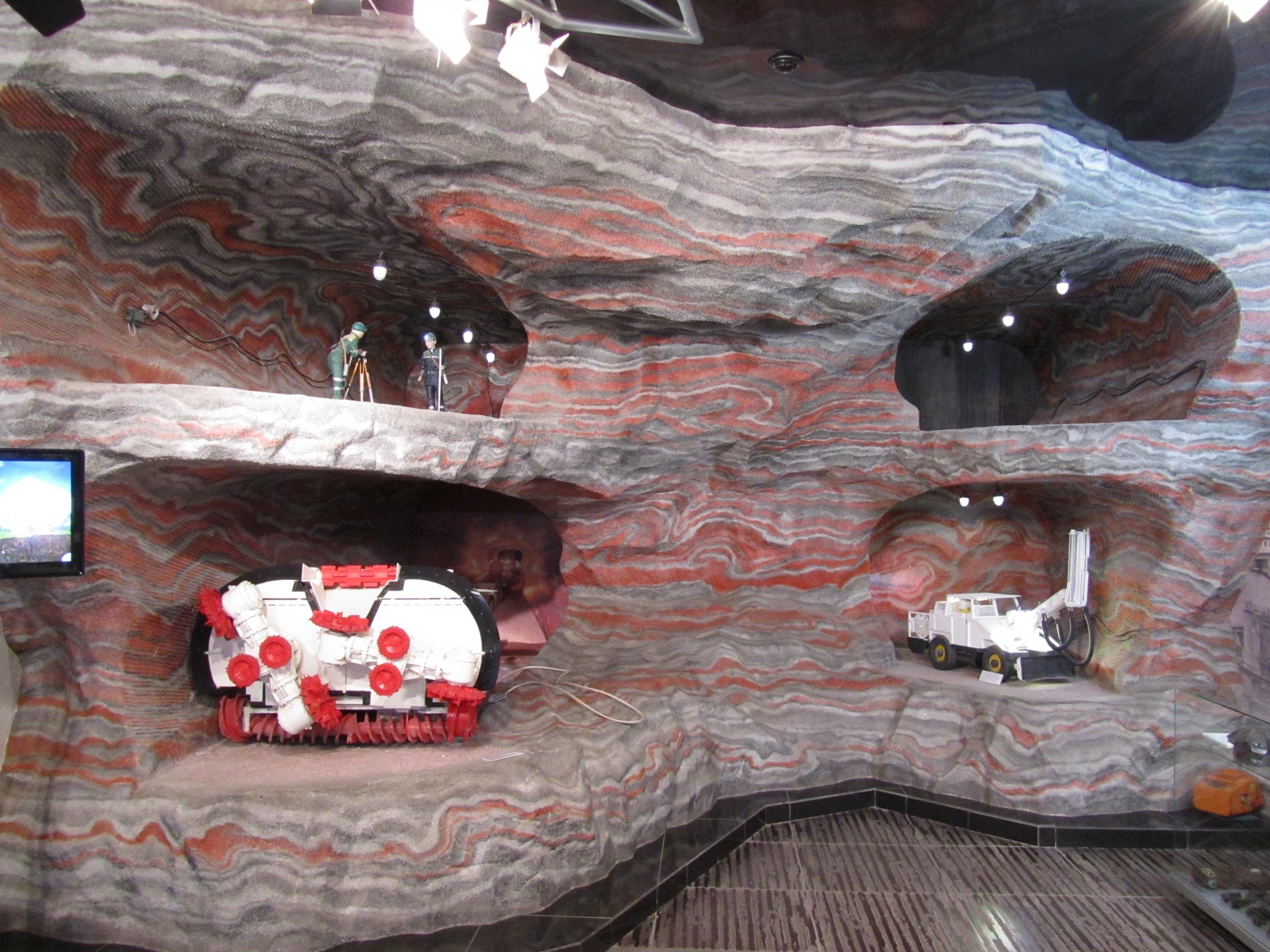 В музее Уралкалий макет добычи калия
