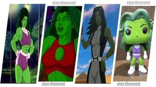 She-Hulk Evolution in cartoons 2020 / Женщина Халк  Эволюция