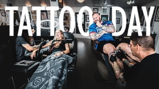 TATTOO DAY WITH KELSEY AND TRAINING!