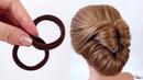 Прическа на длинные волосы из 2 резинок