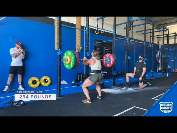 Women's 1 Rep Max Front Squat Highlights 2020 CrossFit Games Event 2