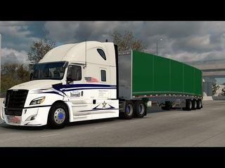 American Truck Simulator - ATS  - Freightliner Cascadia - Maxmiser Curtain trailer - Colorado