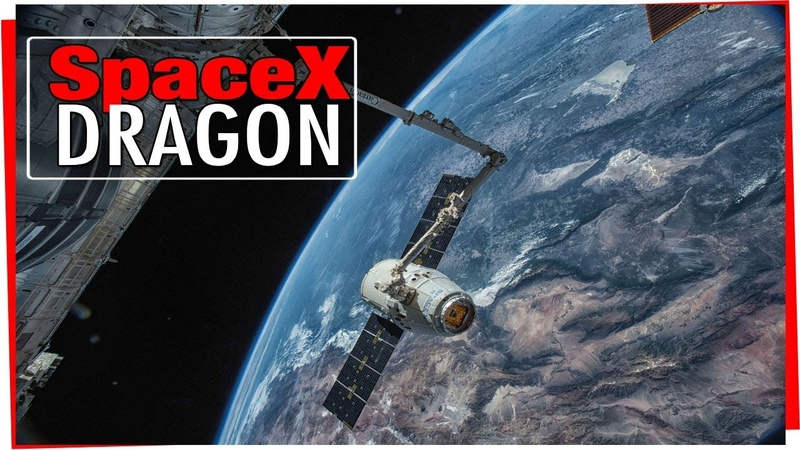 4K SpaceX Dragon At The International Space Station Circling Earth