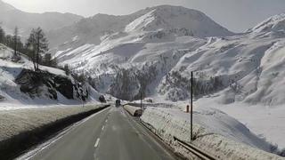 Miyagi🔥Альпы глазами дальнобойщика Швейцария - Италия, переход Brig