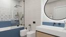 Коллекция Мореска / Moresque в дизайн-проекте ванной комнаты
