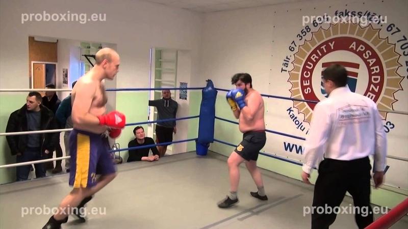 Olegs Lopajevs – 90,0 kg. VS Dmitrijs Avsejenkovs – 84,9 kg. 10.01.2015 proboxing.eu