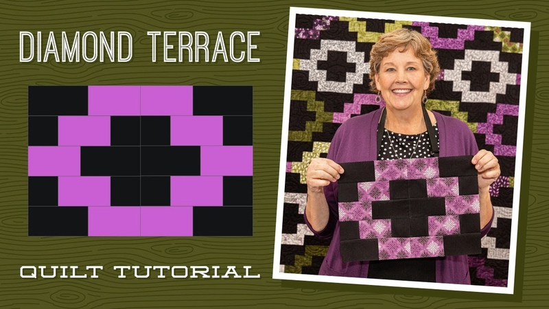 Make a Diamond Terrace Quilt with Jenny Doan of Missouri Star Video Tutorial