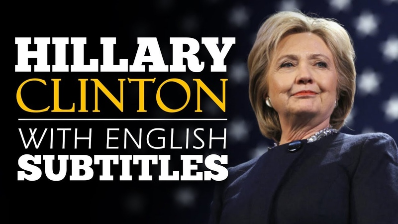 ENGLISH SPEECH HILLARY CLINTON Be Resilient English Subtitles
