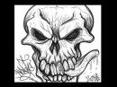 SKULL Speed Drawing by KOB ONE aka SCORPIOFLO