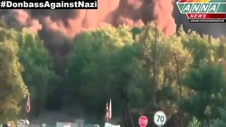 ДНР Горловка  Подрыв моста 11 07 2014   DPR  Gorlovka  Explosion of bridge