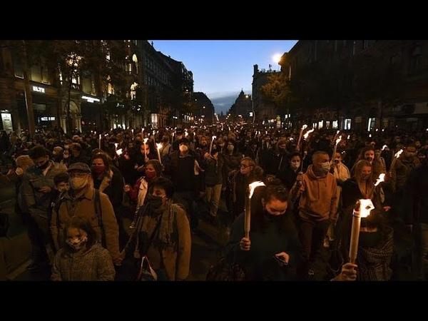 За всю нашу свободу в Будапеште прошла акция протеста против политики премьера Виктора Орбана …