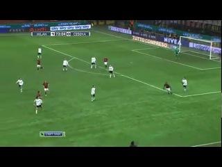 Дмитрий Савин в прямом эфире на НТВ комментирует матч чемпионата Италии между Миланом и Чезеной