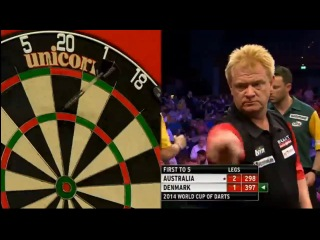 Australia vs Denmark (PDC World Cup of Darts 2014 / First Round)