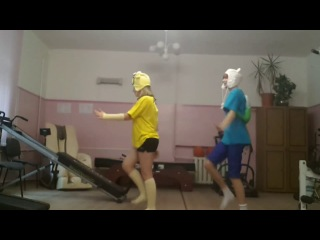 えもラブ 踊ってみた танец от Финна и Джейка 3
