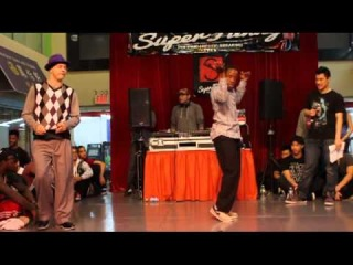 SUPER FUNKY 2012   POPPIN SEMI-FINAL   JROCK(WIN) VS CATALYST