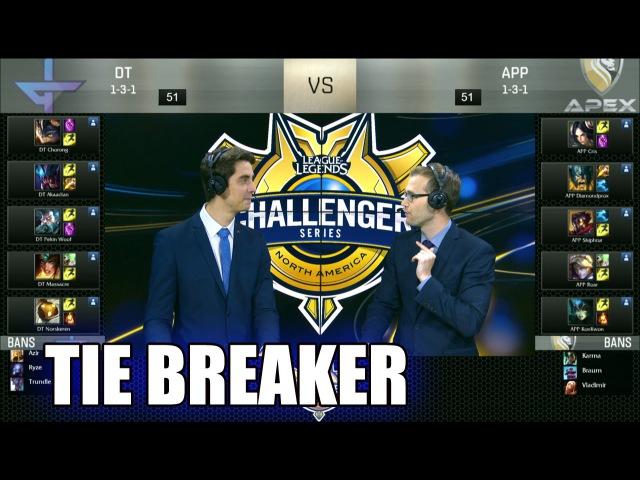 Dream Team vs Apex Pride   Tie Breaker S6 NACS Summer 2016 Week 5   DT vs APP