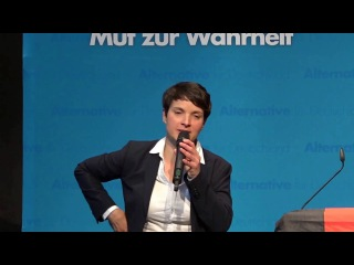 Frauke Petry in Landau - Langversion. Veranstaltung mit Diskussion. AfD Bayern TV