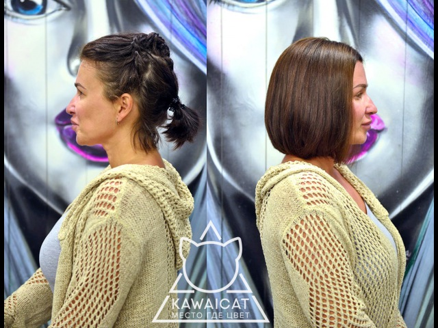 Выход из черного через смывку и осветление без последствий для волос