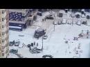 Снегопад в Москве 2018 - вывоз мусора после