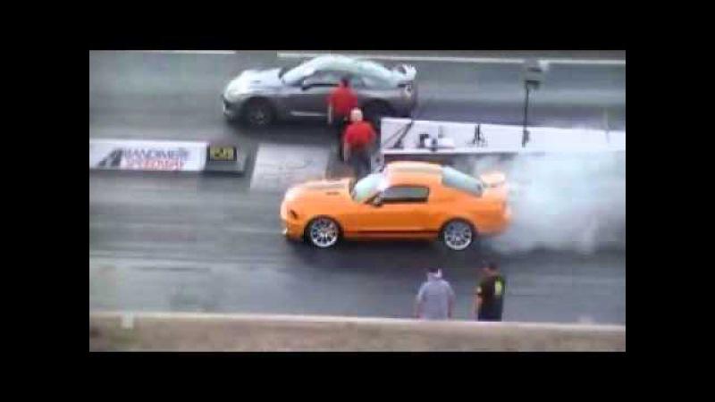 GT500 Supersnake vs Nissan GTR at Bandimere speedway