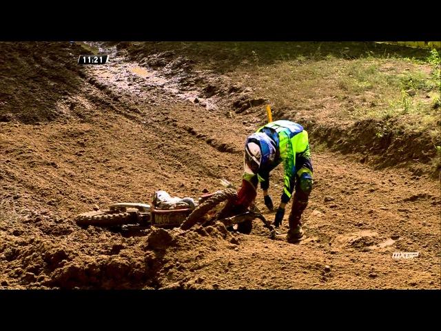 Artemly Nazarov crash MXGP of Latvia 2015 motocross