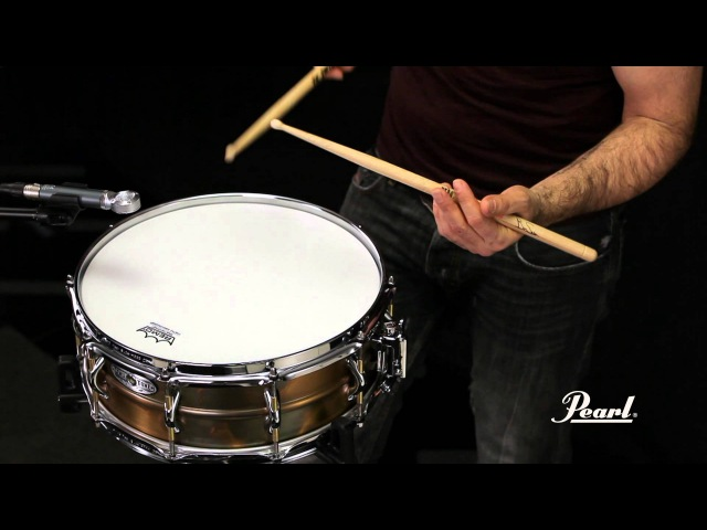 Pearl 14x5 Premium Beaded Brass SensiTone Snare Drum