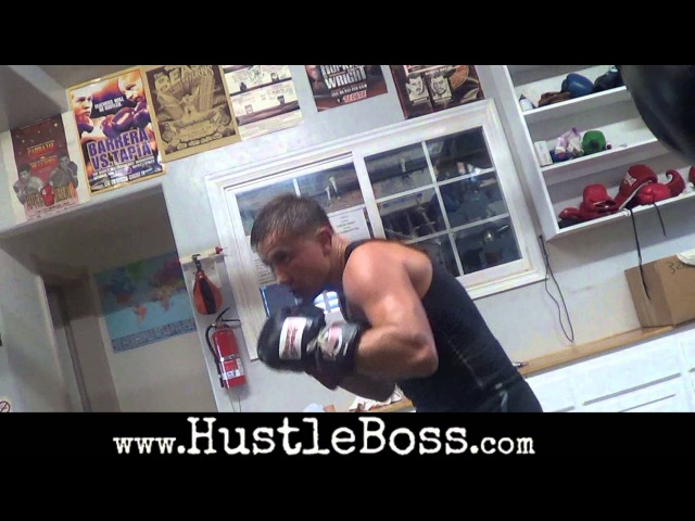 Gennady Golovkin blasting the heavy bag inside of the Summit Gym [Training highlights]