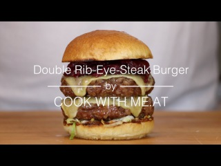 Double Rib Eye Steak Burger - Grilled on the Napoleon TravelQ PRO - COOK WITH