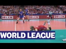 Verbov rescues the ball and Biryukov hammers it