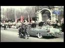 1961, Подобного ликования Москва еще не знала . Кортеж с Гагариным и Хрущевым на улицах города