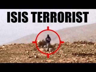 18+ СИРИЯ Курды сняли часового ИГИЛ / SYRIA Kurds killed ISIS sentry