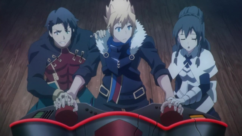 Драконий хаос Война красного дракона Chaos Dragon Sekiryuu Seneki 12 серия Озвучка