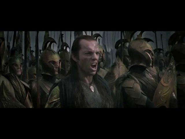 Айре и Саруман - Бой впятером на одного