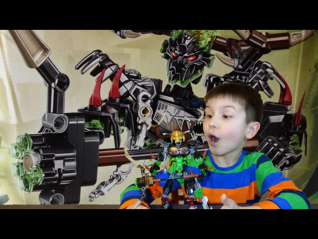 LEGO BIONICLE 71310 Umarak the Hunter and 71303 Ikir Creature of Fire Review Unboxing SanSanychTV