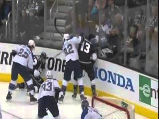 Slava Voynov (1) Goal: St Louis Blues 0 Los Angeles Kings 1. May 4th 2013.