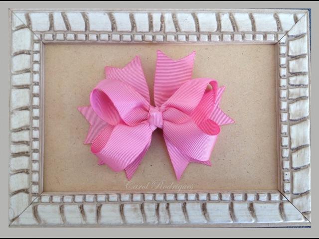 Laço boutique com Spike de fitas - How to make a Boutique Bow