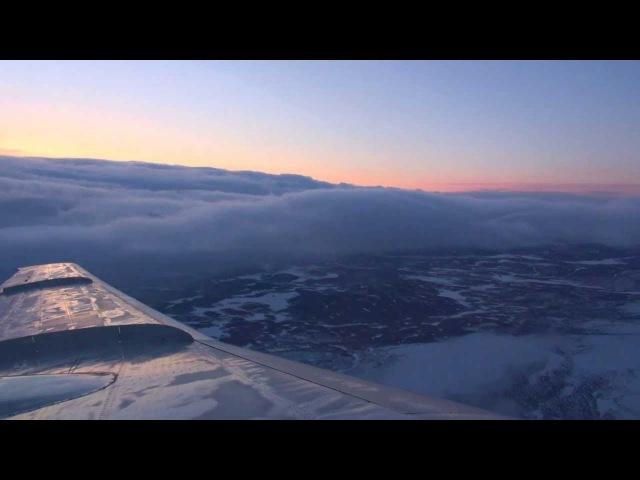 Красивый восход Ту-154 Мурманск-МоскваTu-154 Murmansk-Moscow
