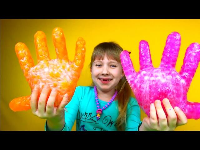 Замораживаем растущие шарики Орбиз Amazing Science Experiments Freezing growing balls Orbiz