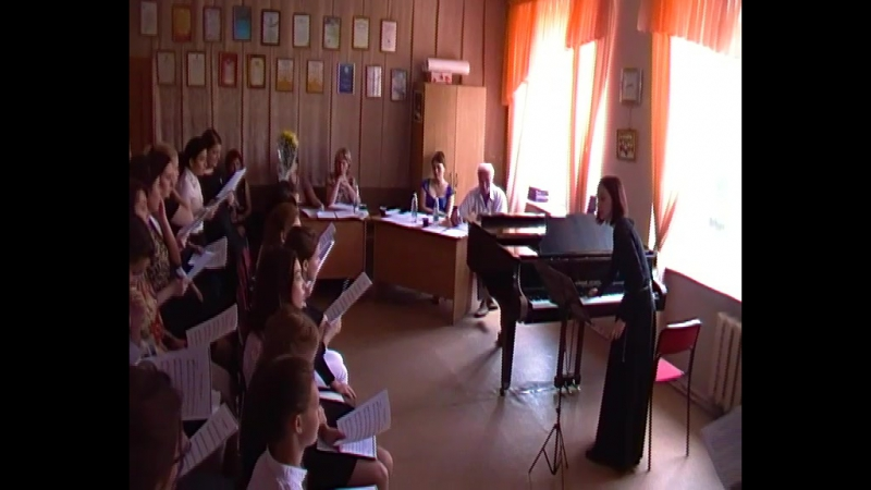 Ахметгалиева Юлия работа с хором