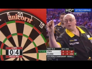 Adrian Lewis vs Andrew Gilding (PDC World Darts Championship 2016 / Round 2)