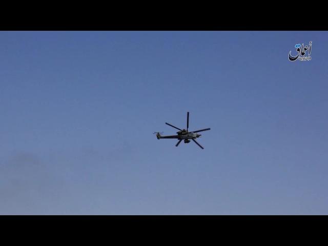 استهداف مروحية هجومية روسية بالرشاشات ال157